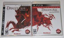 PS3 Game Lot - Dragon Age Origins (New) Dragon Age Origins Awakening (New)