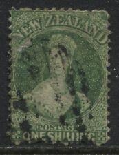 New Zealand QV Chalon Head 1864 1/ green used