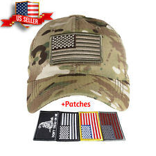 Tactical Operator Hat Special Forces USA Flag Army Military Patch Cap