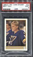 Brett Hull 1989 O-Pee-Chee Sticker Hockey # 22 PSA 9 Mint
