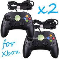 2 LOT NEW Black Controller Control Pad for Original Microsoft XBOX X System