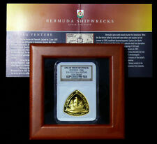 2006 Bermuda Sea Venture 1oz Gold Shipwreck Proof First Strike Coin & COA