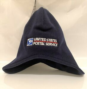 USPS Beanie Custom Embroidery Knit NAVY Decky Dogear Hat