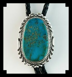 Native American Sterling and Turquoise Bolo