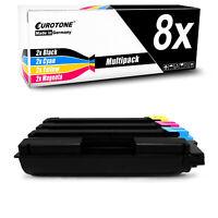 8x Eurotone Toner für Kyocera Ecosys M-6530-cdn P-6130-cdn M-6030-cdn