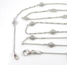 """3 FEET Affinity Sterling Silver Multi Station **36"""" LONG** Chain Necklace LFJ3"""