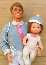 Vintage Retro The Heart Family 1984 ''Dad & Baby Barbie Ken Doll!