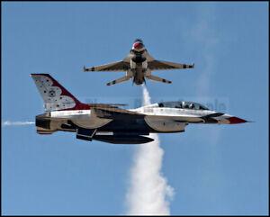USAF F-16 Thunderbirds Crossover Pass Fairchild 2017 8x10 Photos