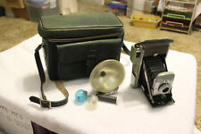 Vintage Polaroid Land Camera Model 80 w/ Leather Case & Accessories from 1950's