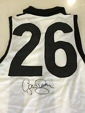 GREAT COLLINGWOOD FOOTBALL CLUB JUMPER SIGNED COLLINGWOOD LEGEND GAVIN BROWN
