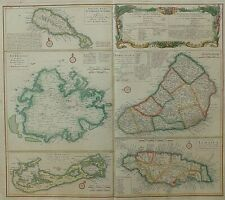 Map island Kitts, Antigua, Bermuda, Barbados, Jamaica, Homann Heirs 1745