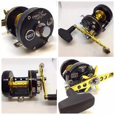 omoto CHIEF Xtreme 630 CXS [RH], Fishing Reel, 6.3:1, Black/Gold