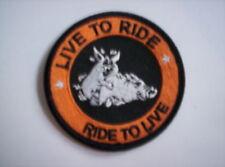 Biker aufnäher Live to ride -Ride to  live  ca 7,5  cm