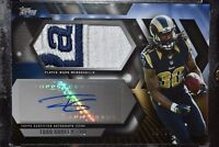 2015 TOPPS TODD GURLEY RAMS LOGO ROOKIE PATCH AUTO AUTOGRAPH RC