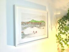 'St. Ives Cornwall'Framed Original Pencil & Pen Drawing Limited Edition Print