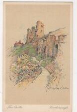The Castle, Scarborough, Marjorie C. Bates Art Postcard, B612
