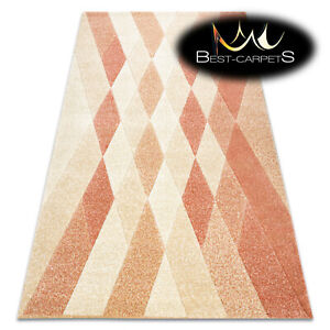 Thick Quality Modern Design Densely Soft Rugs FEEL Diamonds beige terracotta