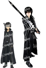 Miccostumes Sword Art Online Kirito Kazuto Kirigay Cloak Men Cosplay Costume