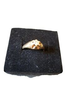 9ct Yellow Gold  Antique Style Single Stone Men's Gypsy Ring y to z