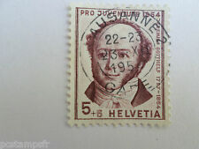 SUISSE SCHWEIZ 1954, timbre 553, GOTTHELF, CELEBRITE, CELEBRITY, oblitéré