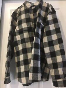 Woolrich Flannel Shirt Jacket Plaid Mens Large
