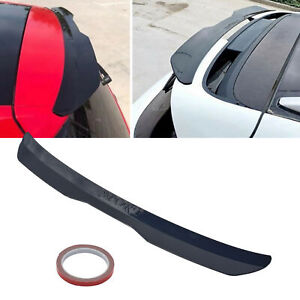 Car Rear Spoiler Universal Modified Roof Extension Lip Hatchback Glossy Black