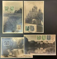 Estonia, Early Photo Cards, Stamps On Front, 4 Diff., VF