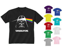 Youth Kids Childrens Darkside Darth Vader Pink Floyd T-shirt Age 5-13 Years