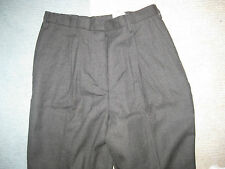 Cintas Womens Misses Executive Gray Pleated Lined wool Dress pants12 32 x 31 NEW
