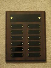 Fantasy Football Perpetual Award Plaque 12 Plate, 8x10 Trophy 2 Finishes