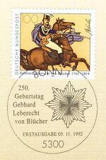BRD 1992: Marschall Blücher Nr. 1641 mit Bonner Ersttagssonderstempel! 1A! 1712
