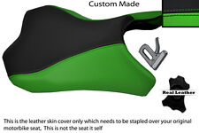 GREEN & BLACK CUSTOM FITS KAWASAKI Z1000 10-13 FRONT RIDER LEATHER SEAT COVER