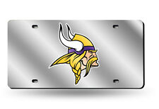Minnesota Vikings Mirrored Laser Cut License Plate Laser Tag