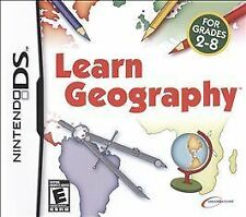 Learn Geography Nintendo DS NDS DSI LITE XL Complete&Very Good