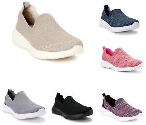 Athletic Works Women's Knit Memory Foam Pick Color Slip-on Sneaker Shoes: 6-11