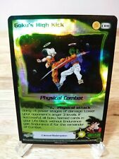 DRAGON BALL Z DBZ CCG GOKU'S HIGH KICK CR11 COLOSSAL REDEMPTION FOIL PROMO SCORE