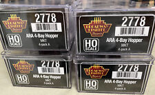 HO Scale Coal Hoppers - 4 Pack Set