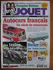 LA VIE DU JOUET N°77 MAQUETTES HELLER / AUTOCAR / VEDETTE GEGE / POUPEES STEINER
