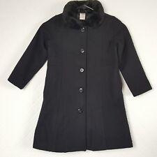 Gymboree Girls Winter Dress Coat Black Wool Holiday Jacket Fully Lined Size 5