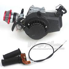 49CC 2-stroke Engine Motor Pocket Mini Scooter ATV ALU Starter Air Filter +Grips
