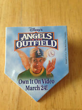 RARE Vintage Movie Promo Pin  Button Angels in the Outfield Christopher Lloyd