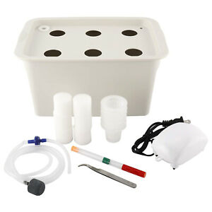 6 Holes Plant Site Indoor Hydroponic System Grow Kit Planting Cabinet Garden Box