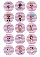 Edible Cupcake Toppers LOL surprise dolls PRE CUT Highest Australian Quality