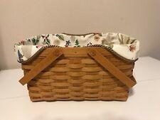 Medium Market Basket Liner from Longaberger Botanical Fields Fabric