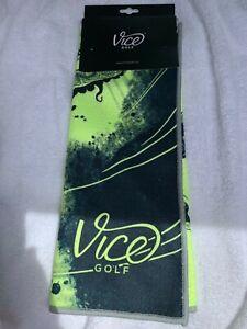Vice Shine Golf Towel Neon Lime 2020 - Durable Waffle Microfiber New ⛳ ⛳
