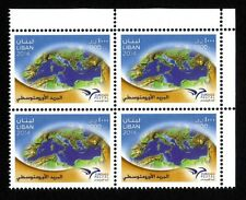 EUROmed Postal stamp 2014 Block/4 Top/R MNH The First Common stamp PUMed Lebanon