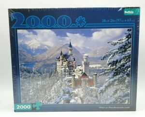 Winter At Neuschwanstein Castle 2000 Piece Puzzle 38x26 Buffalo Games Sealed New