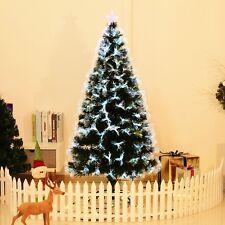 HOMCOM Árbol de Navidad Fibra Optica 150cm Árbol Artificial + Luz LED Estrella