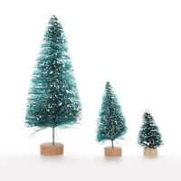 6X Christmas Tree Mini Cedar Ornaments Party Dolls House  Miniature Dec RU