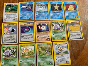 Pokemon, Gym Hero's And Gym Challenge 14 Card Bundle, LP - Near Mint